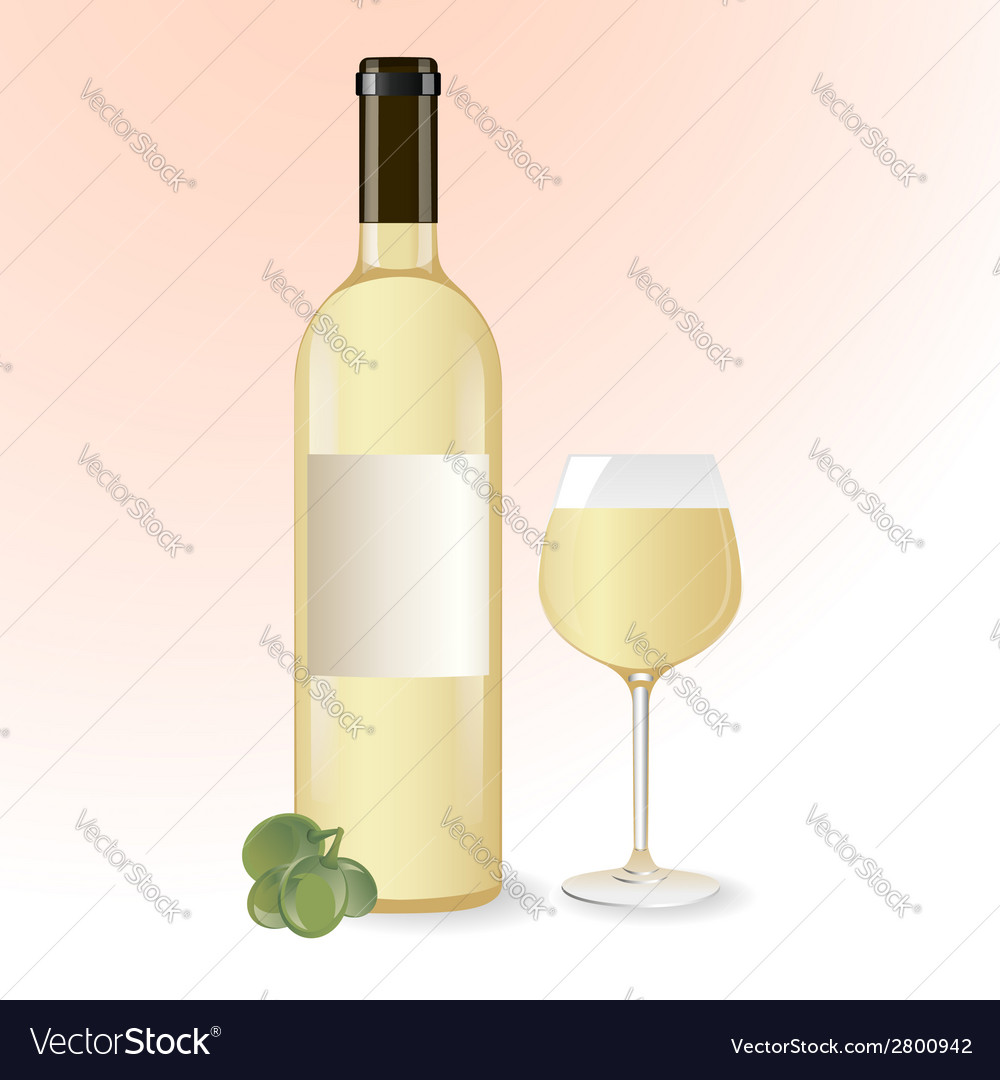White wine vector | Price: 1 Credit (USD $1)