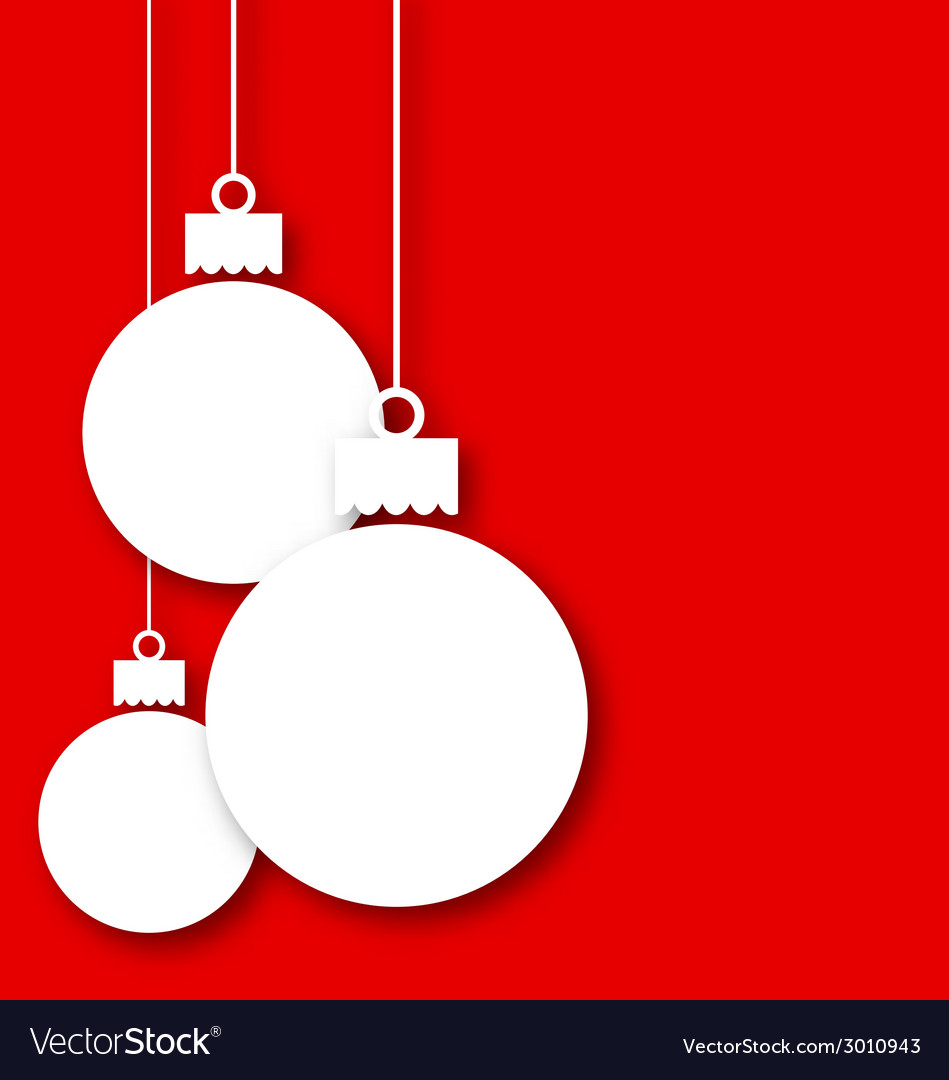 Christmas paper hanging balls with copy space for vector | Price: 1 Credit (USD $1)