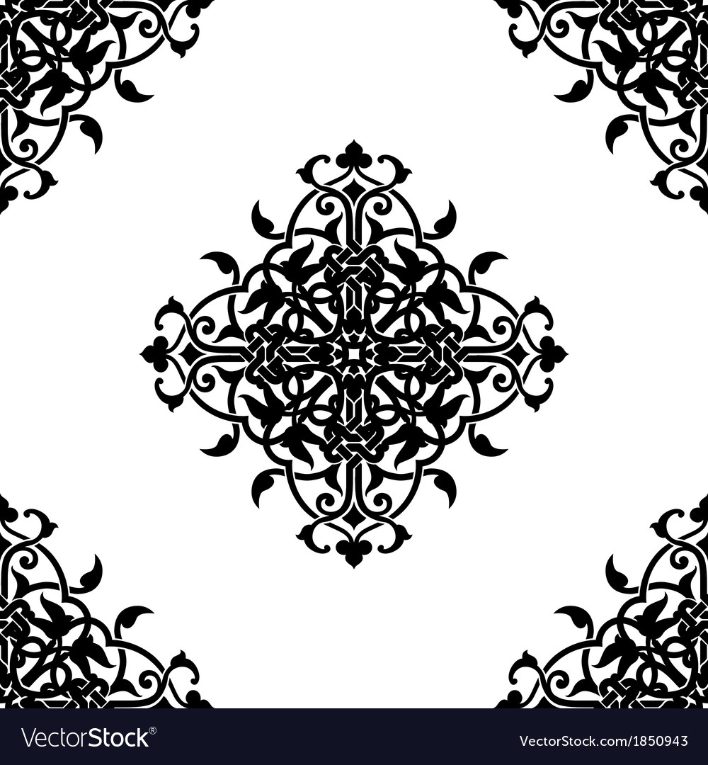 Decorative fractal in arabic or muslim style vector | Price: 1 Credit (USD $1)