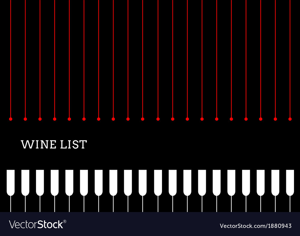 Design a wine list with wineglasses vector | Price: 1 Credit (USD $1)