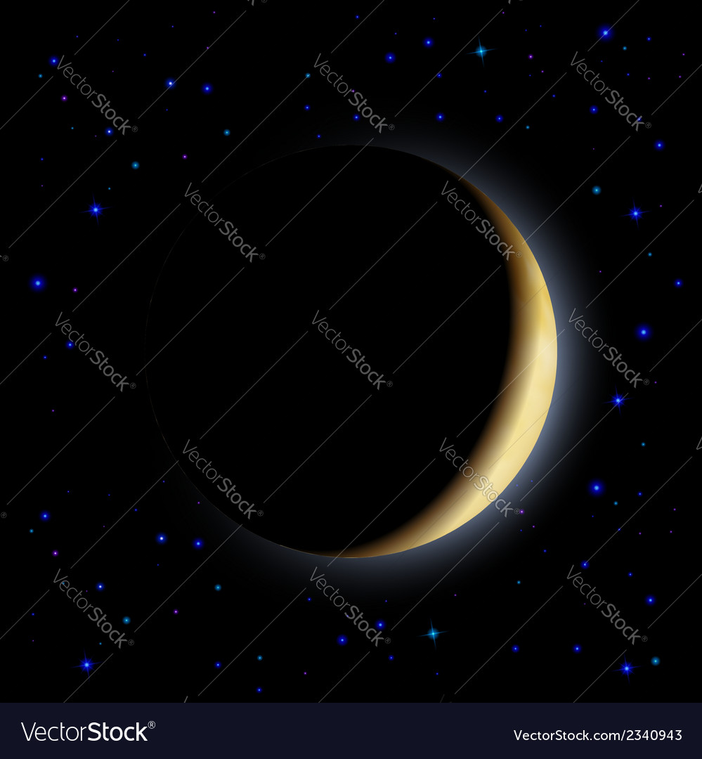 Eclipse of the moon vector | Price: 1 Credit (USD $1)