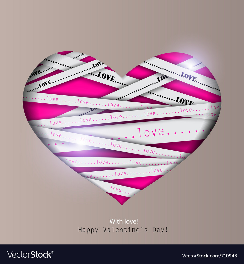 Gift card valentines day background vector | Price: 1 Credit (USD $1)
