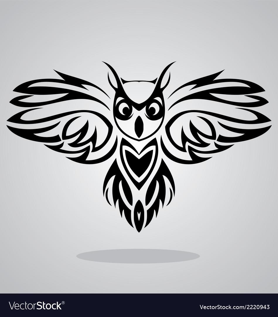 Owl bird tribal vector | Price: 1 Credit (USD $1)