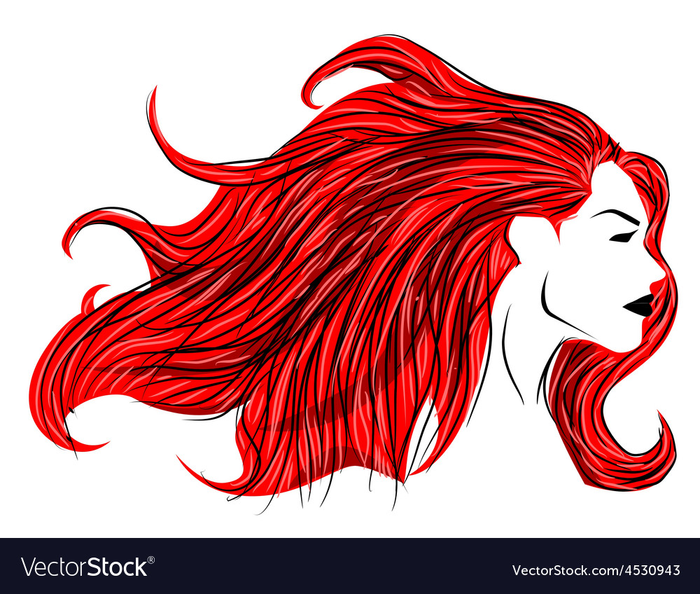Red hair woman vector | Price: 1 Credit (USD $1)