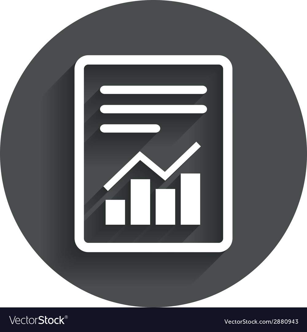 Text file sign file document with chart symbol vector   Price: 1 Credit (USD $1)
