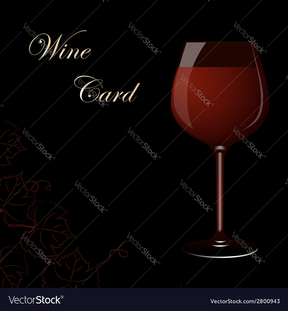 Wine card vector | Price: 1 Credit (USD $1)
