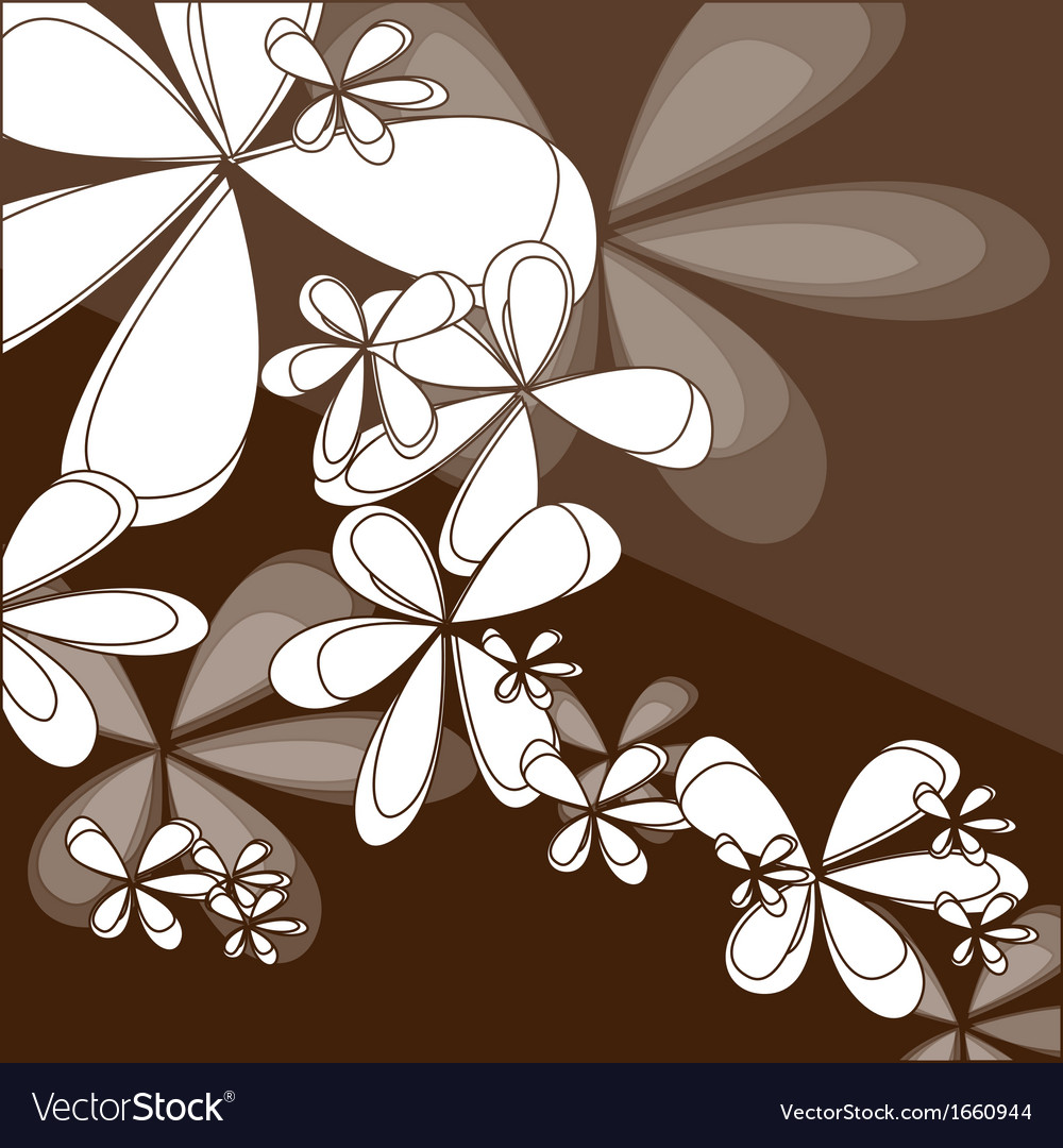 Abstract vintage floral background vector | Price: 1 Credit (USD $1)