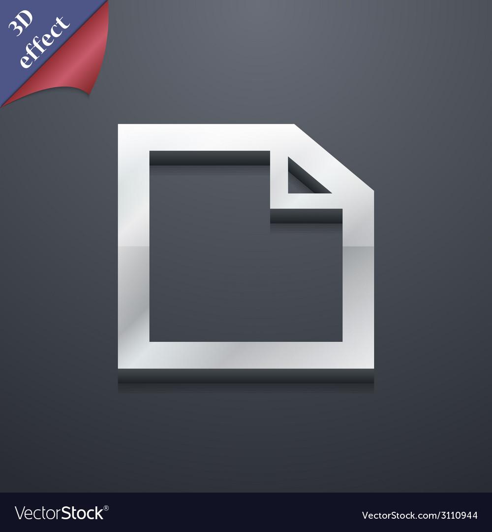 Edit document icon symbol 3d style trendy modern vector | Price: 1 Credit (USD $1)