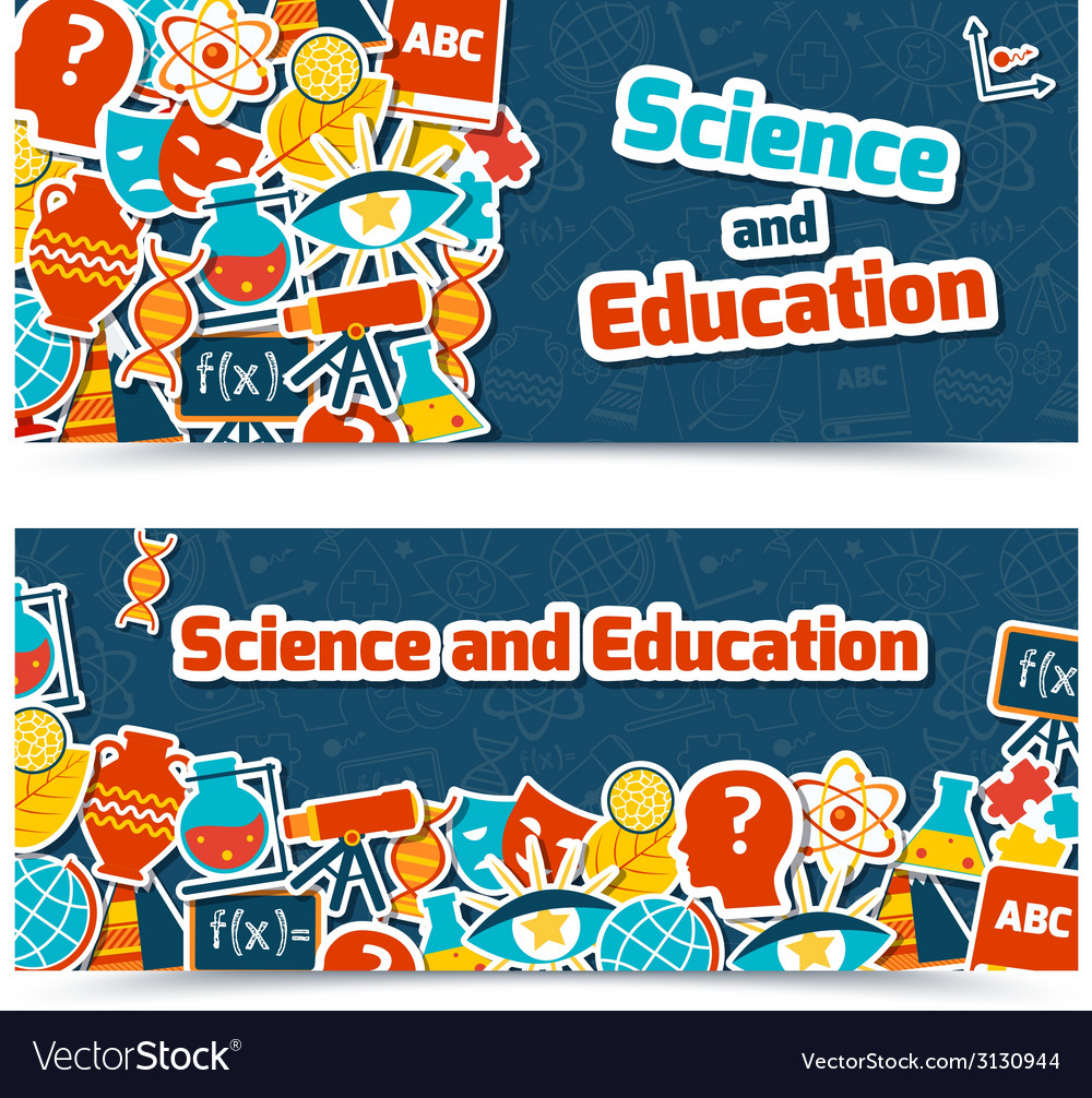 Education science banners vector | Price: 1 Credit (USD $1)