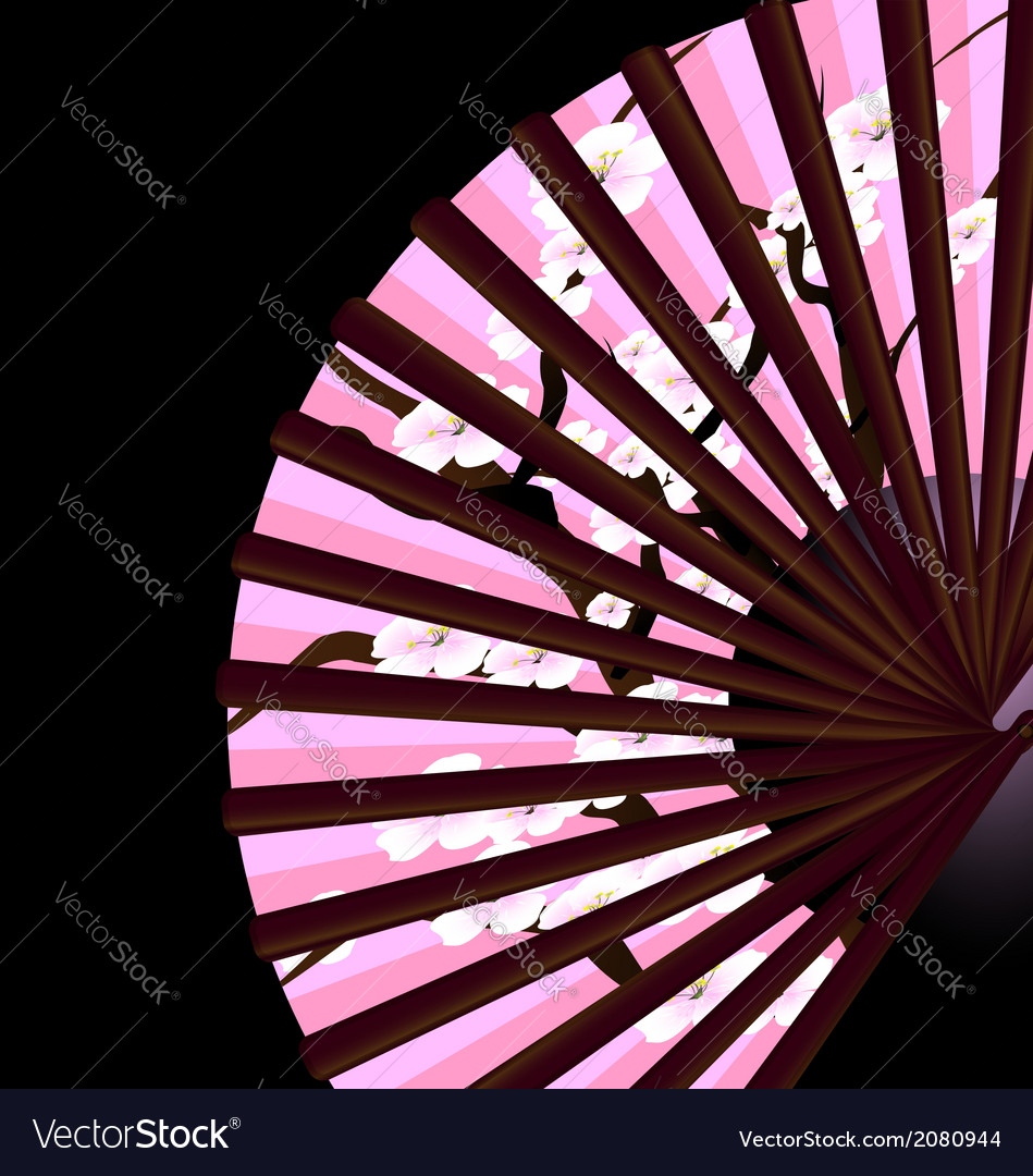 Pink fan vector | Price: 1 Credit (USD $1)