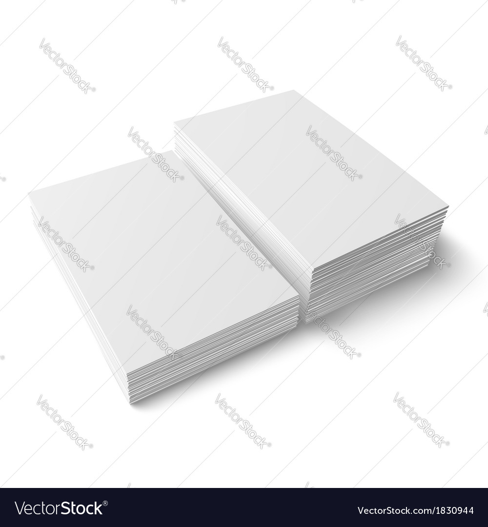 Two different stacks of blank business card vector | Price: 1 Credit (USD $1)