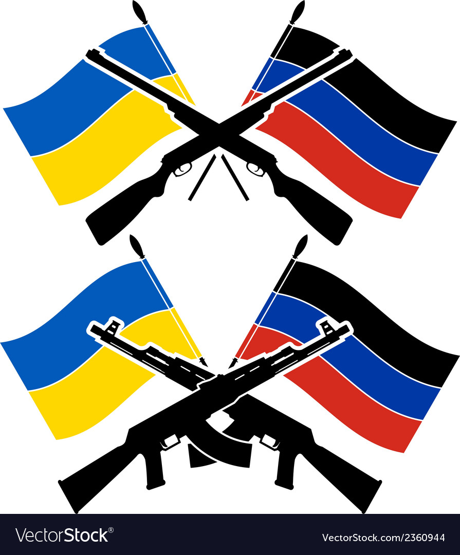 Ukrainian civil war vector | Price: 1 Credit (USD $1)