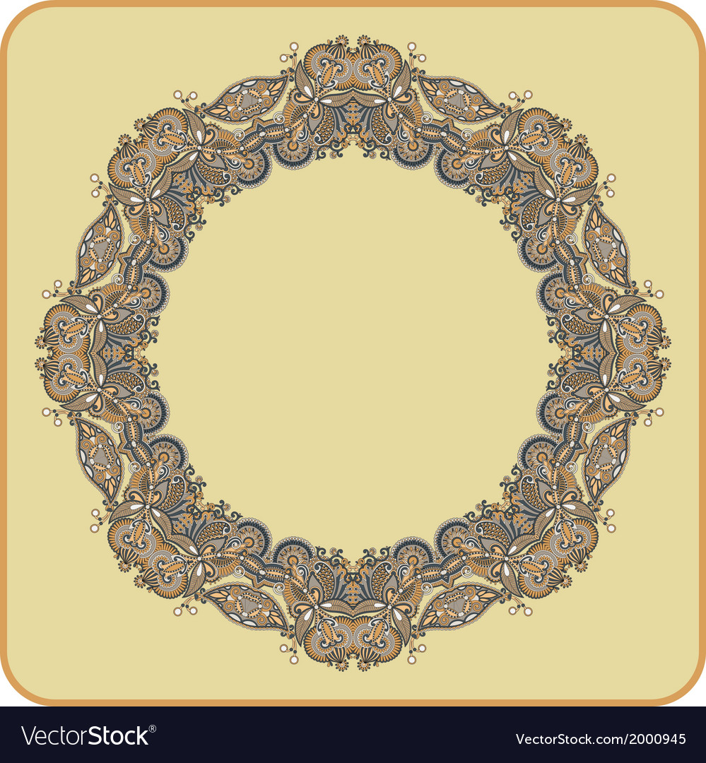 Circle ornament ornamental round lace vector | Price: 1 Credit (USD $1)