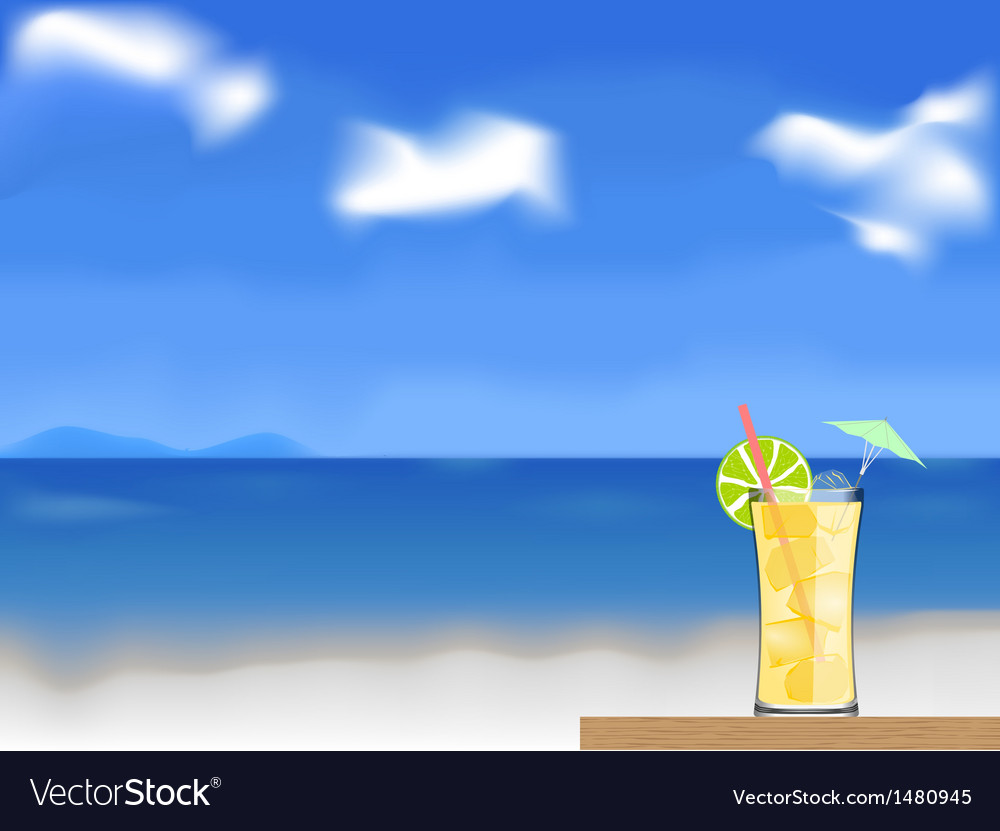 Coctail on the beach vector | Price: 3 Credit (USD $3)