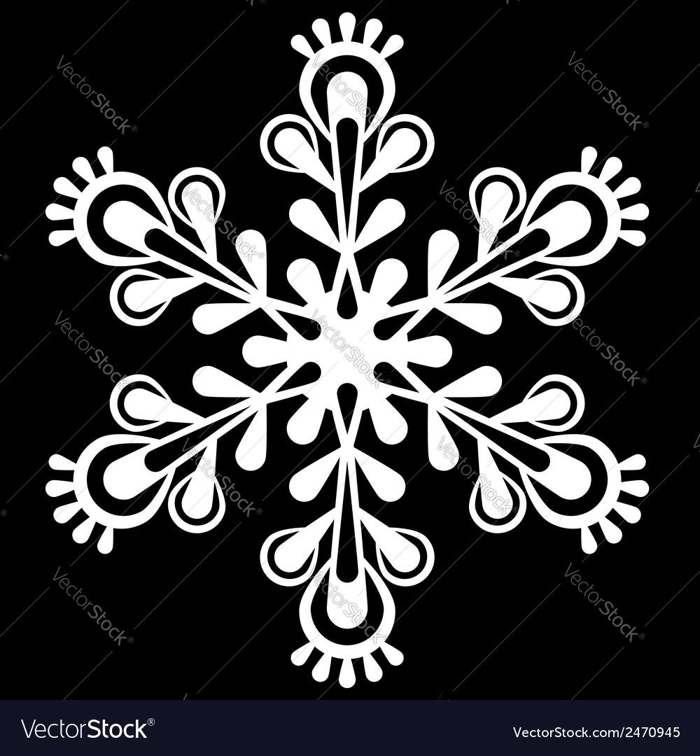 Decorative snowflake vector   Price: 1 Credit (USD $1)