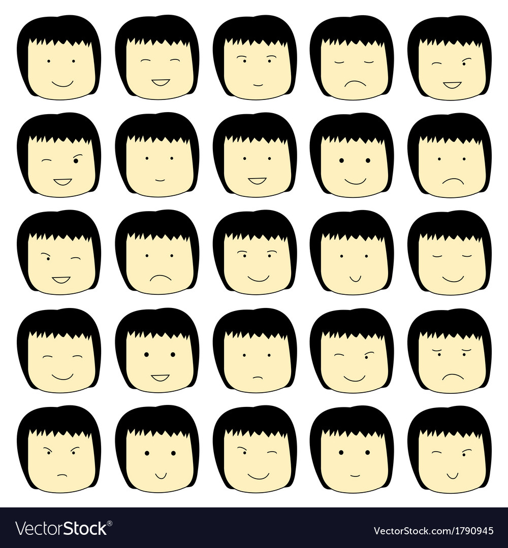 The face of the girl vector | Price: 1 Credit (USD $1)