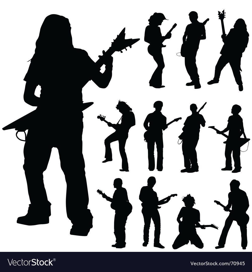 Guitar players vector | Price: 1 Credit (USD $1)