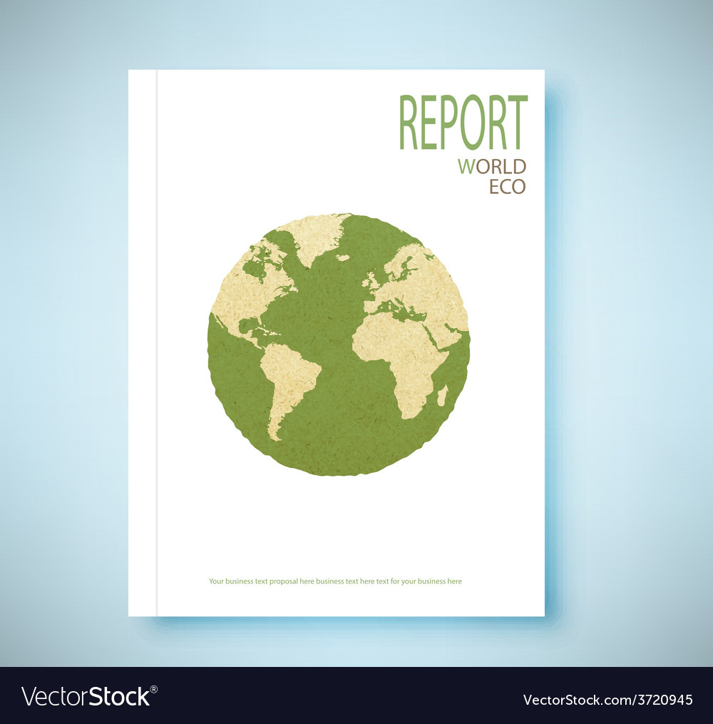 Report world map recycled paper craft stick vector | Price: 1 Credit (USD $1)