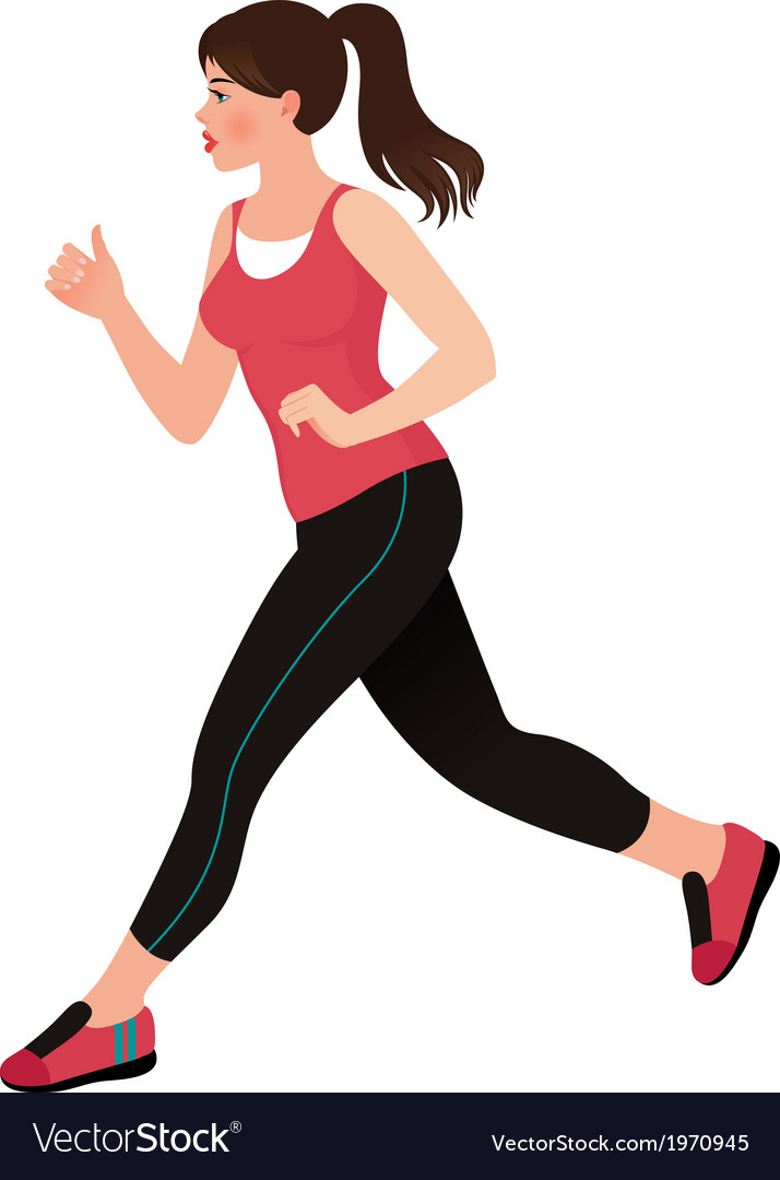 Running girl athlete vector | Price: 1 Credit (USD $1)