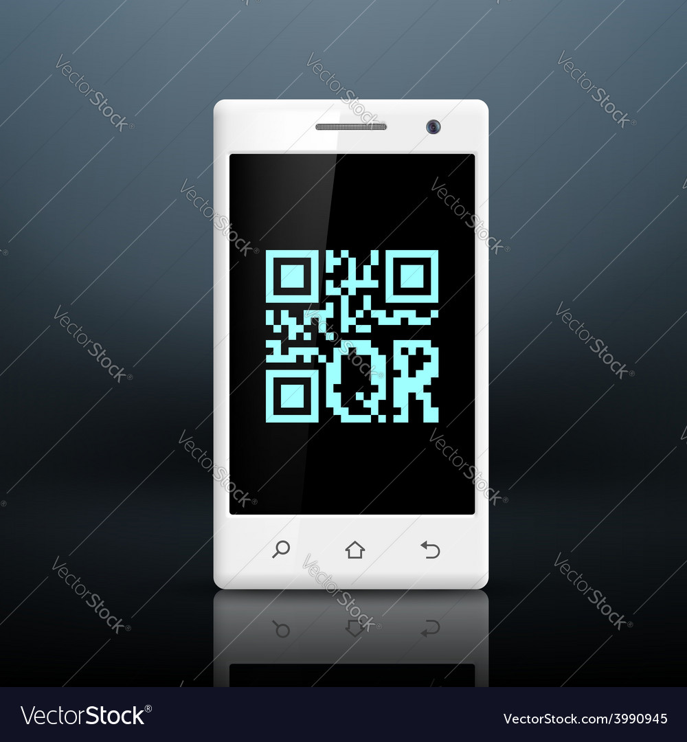 Scanning qr code on the screen of your smartphone vector | Price: 1 Credit (USD $1)