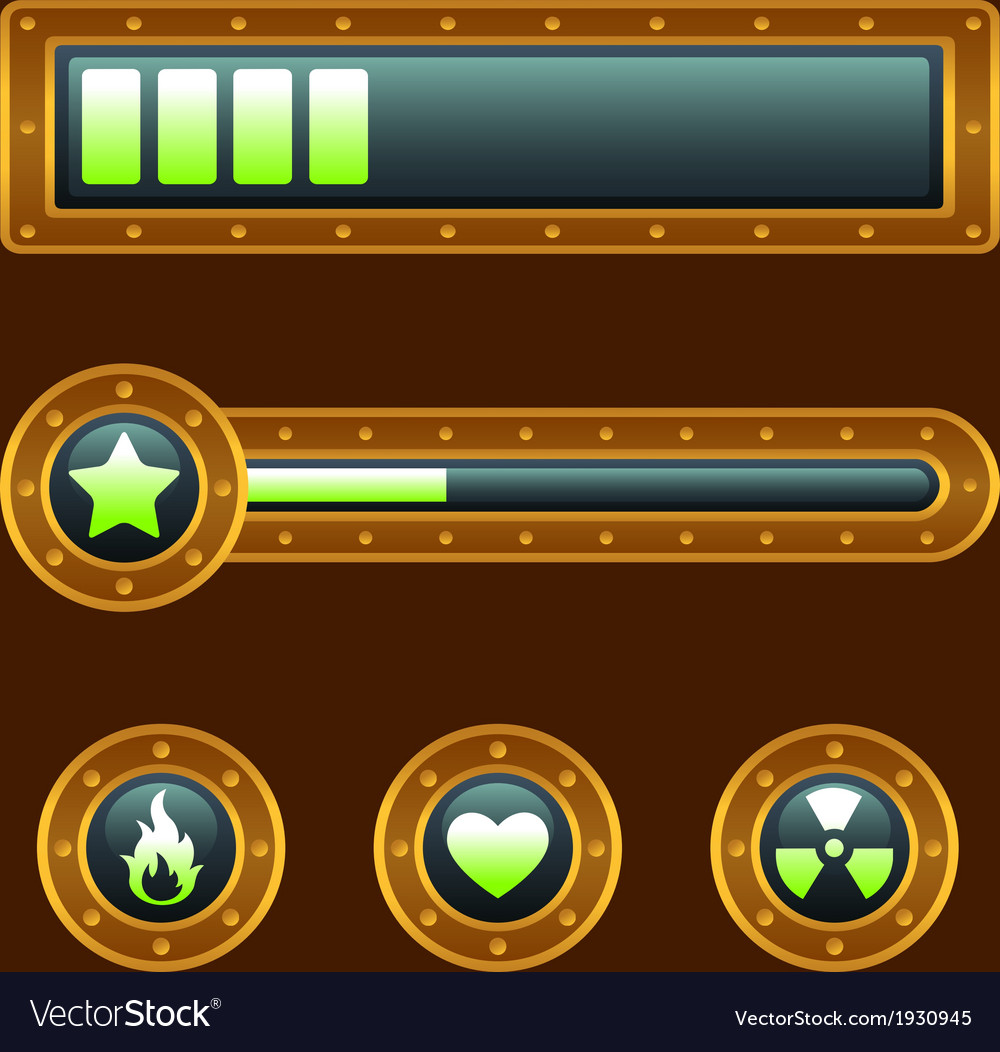 Steam punk progress bar vector | Price: 1 Credit (USD $1)