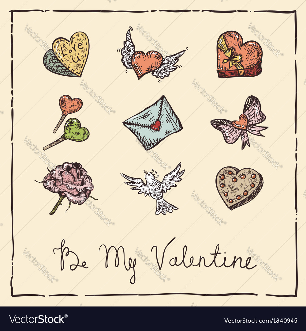 Vintage valentine vector | Price: 1 Credit (USD $1)
