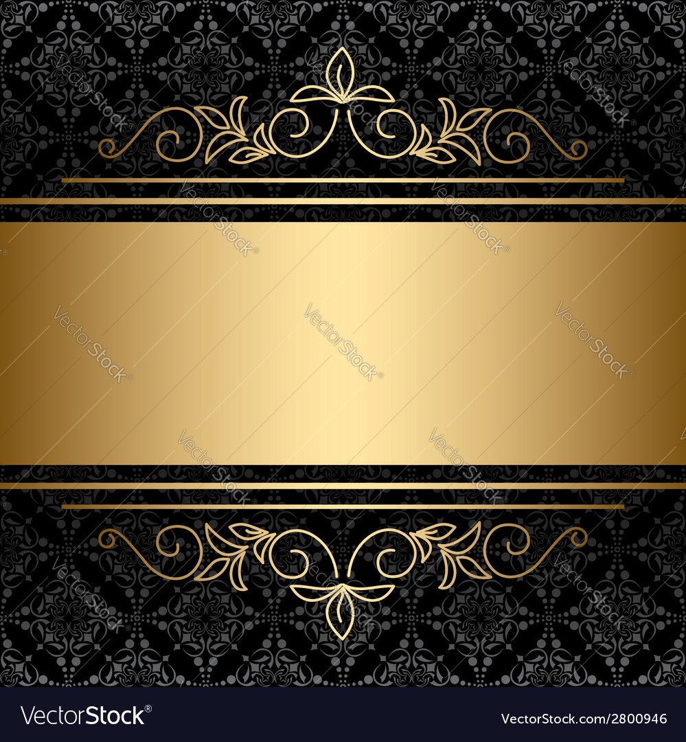 Black background with golden decorations vector | Price: 1 Credit (USD $1)