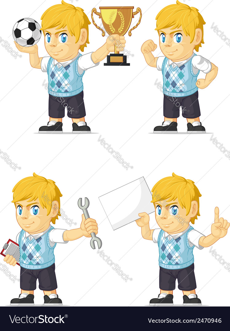 Blonde rich boy customizable mascot 18 vector | Price: 1 Credit (USD $1)