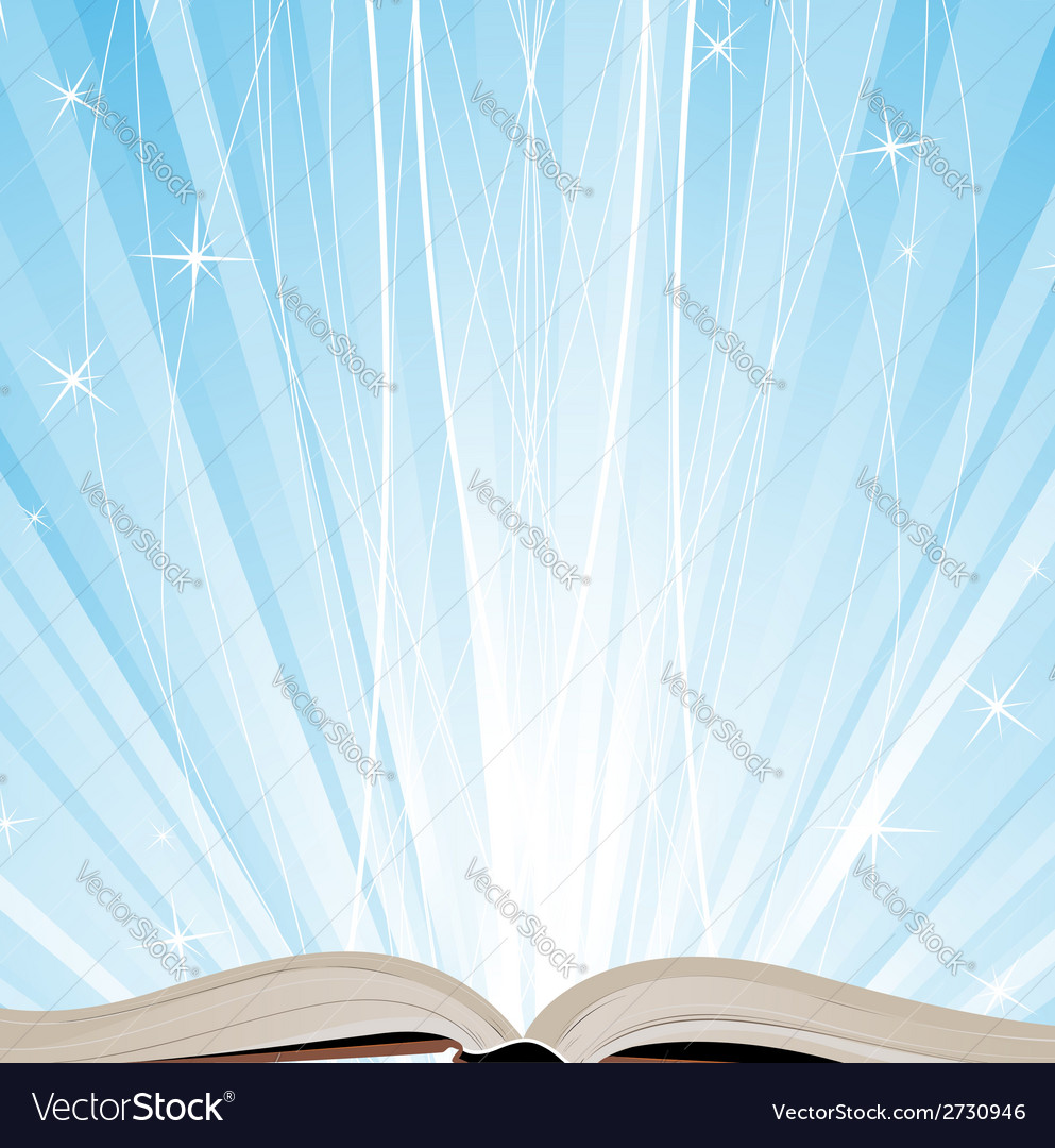 Book and sparkling light vector | Price: 1 Credit (USD $1)