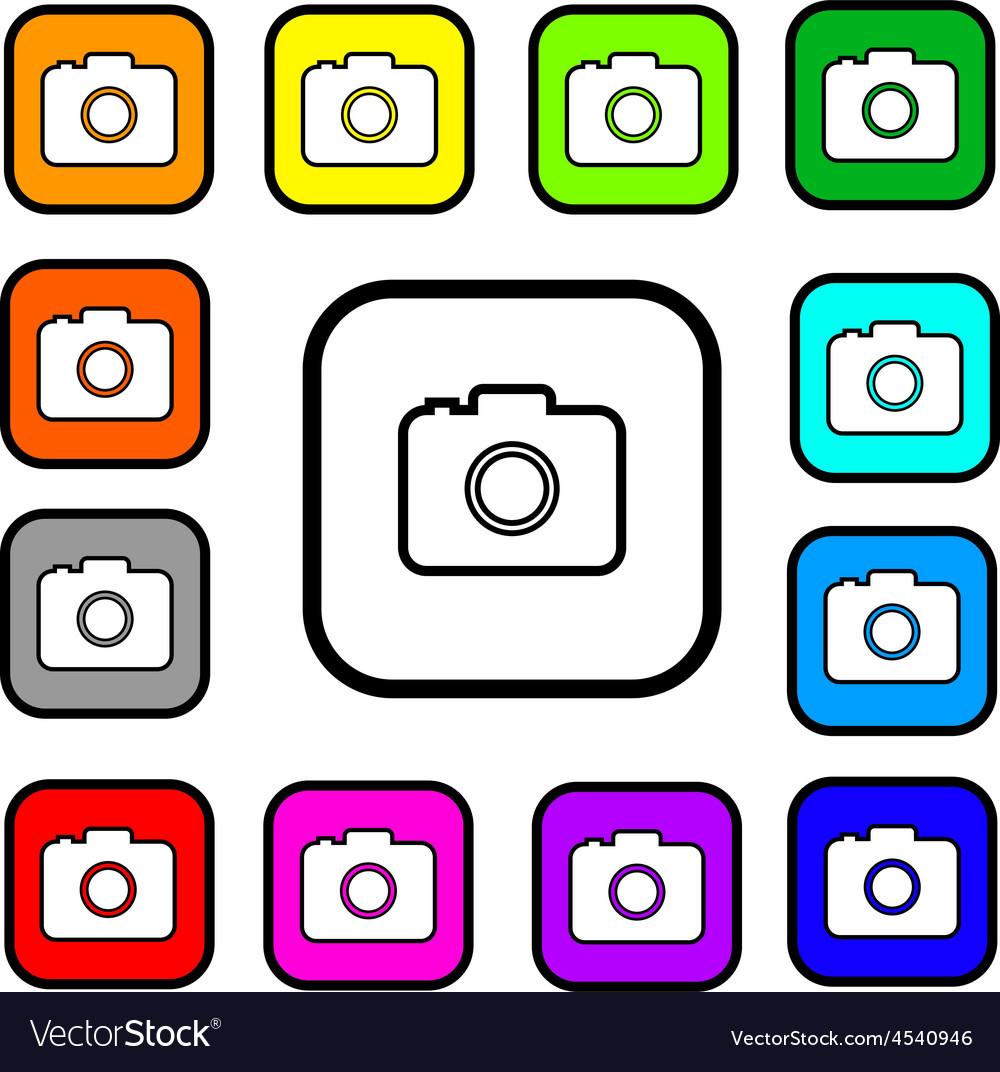 Camera square icons vector | Price: 1 Credit (USD $1)