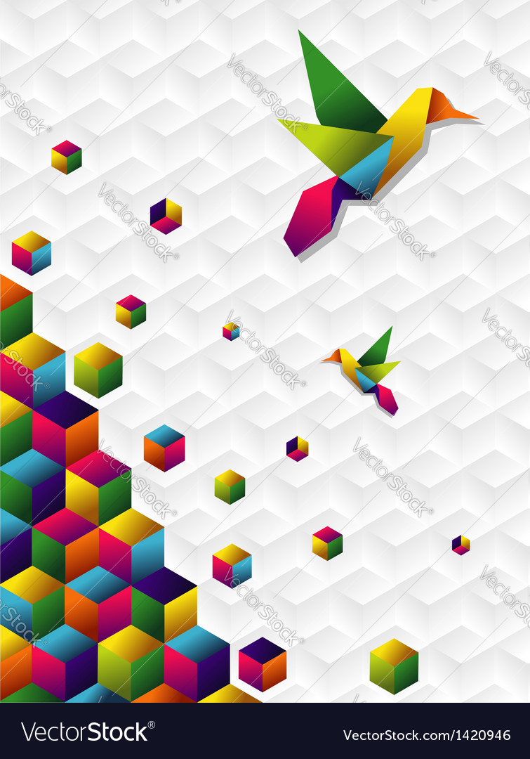 Colorful cubes in motion vector | Price: 1 Credit (USD $1)