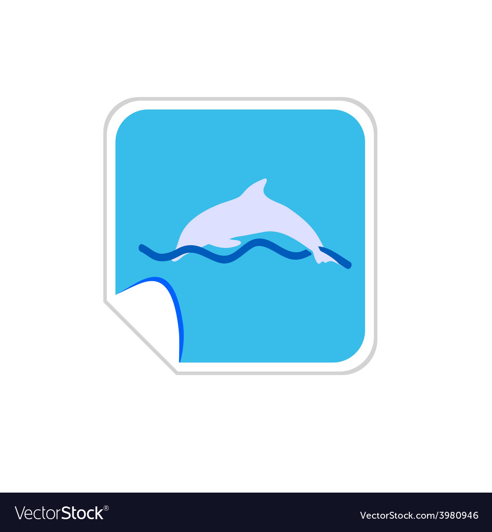 Dolphin color vector | Price: 1 Credit (USD $1)