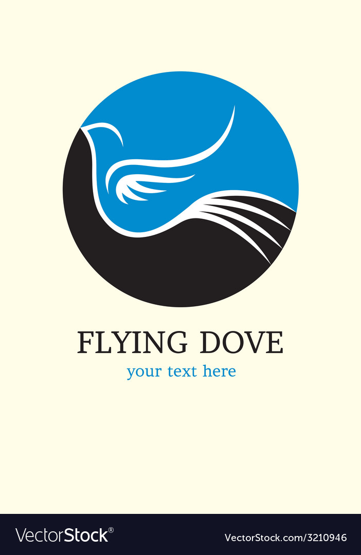 Dove flying logo art design vector | Price: 1 Credit (USD $1)