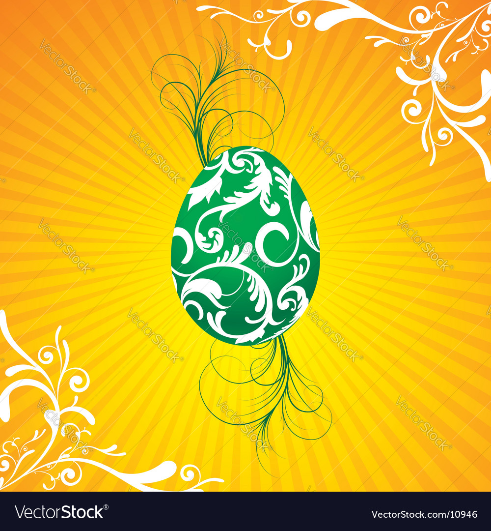 Easter illustration with painted egg vector | Price: 1 Credit (USD $1)