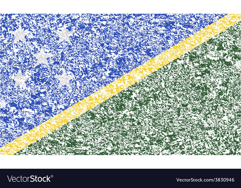 Flag of solomon islands with old texture vector | Price: 1 Credit (USD $1)