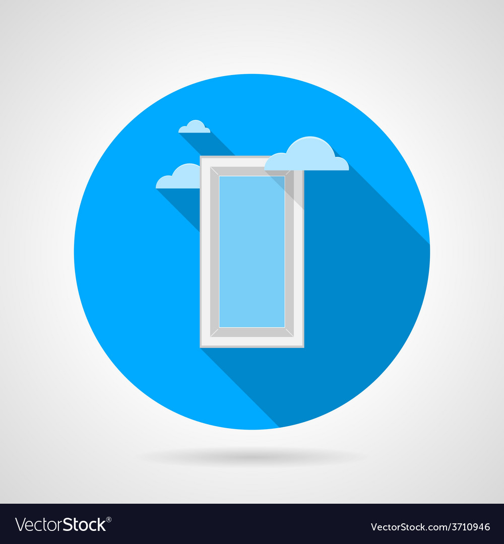 Flat icon for window with clouds vector | Price: 1 Credit (USD $1)