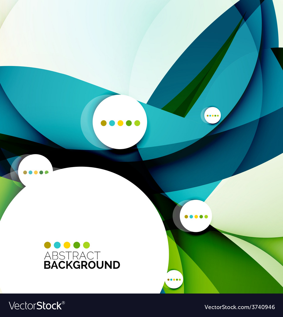 Flowing shapes fresh business template vector   Price: 1 Credit (USD $1)
