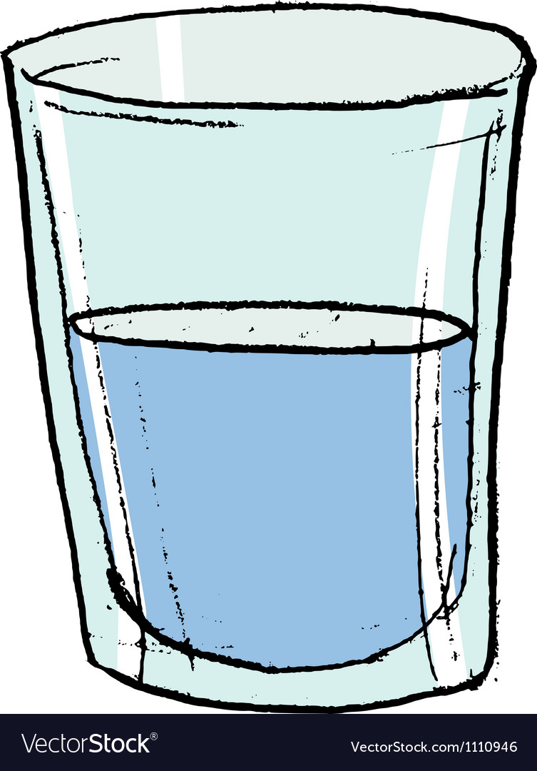 Glass with water vector | Price: 1 Credit (USD $1)