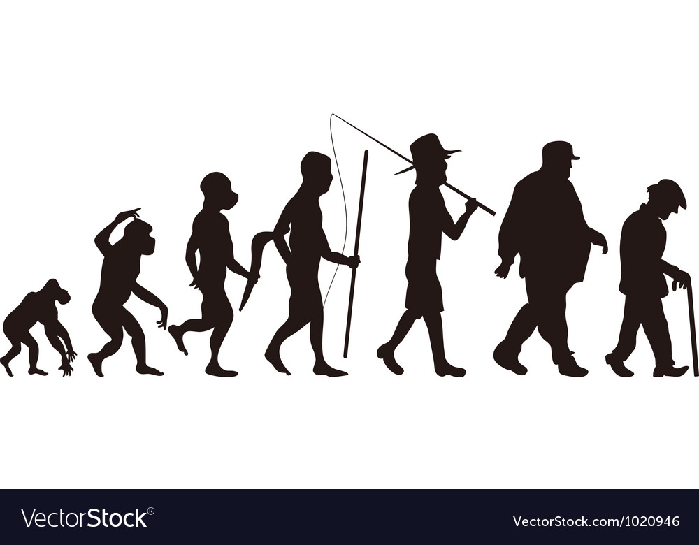 Human evolution vector | Price: 1 Credit (USD $1)
