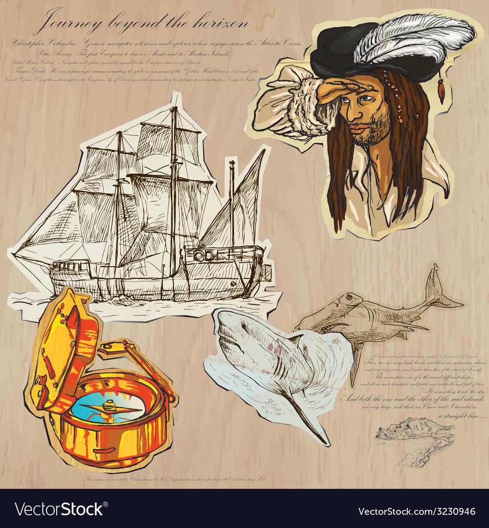 Pirates - journey beyond the horizon vector | Price: 1 Credit (USD $1)