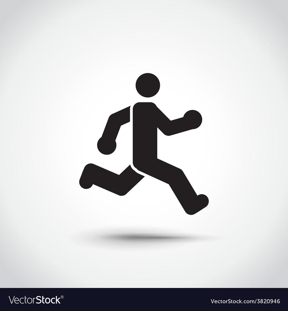 Running man vector | Price: 1 Credit (USD $1)