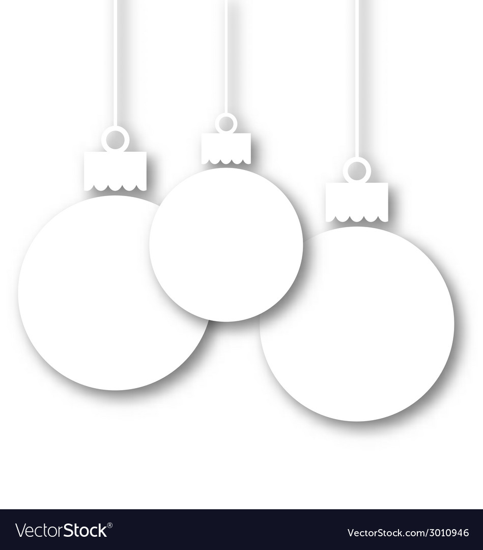 Set christmas paper balls with copy space for your vector | Price: 1 Credit (USD $1)
