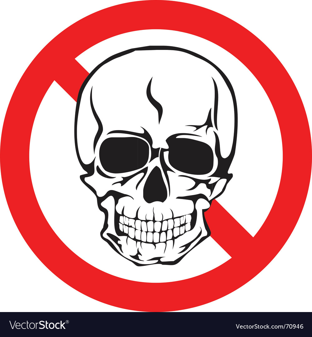 Skull sign vector | Price:  Credit (USD $)