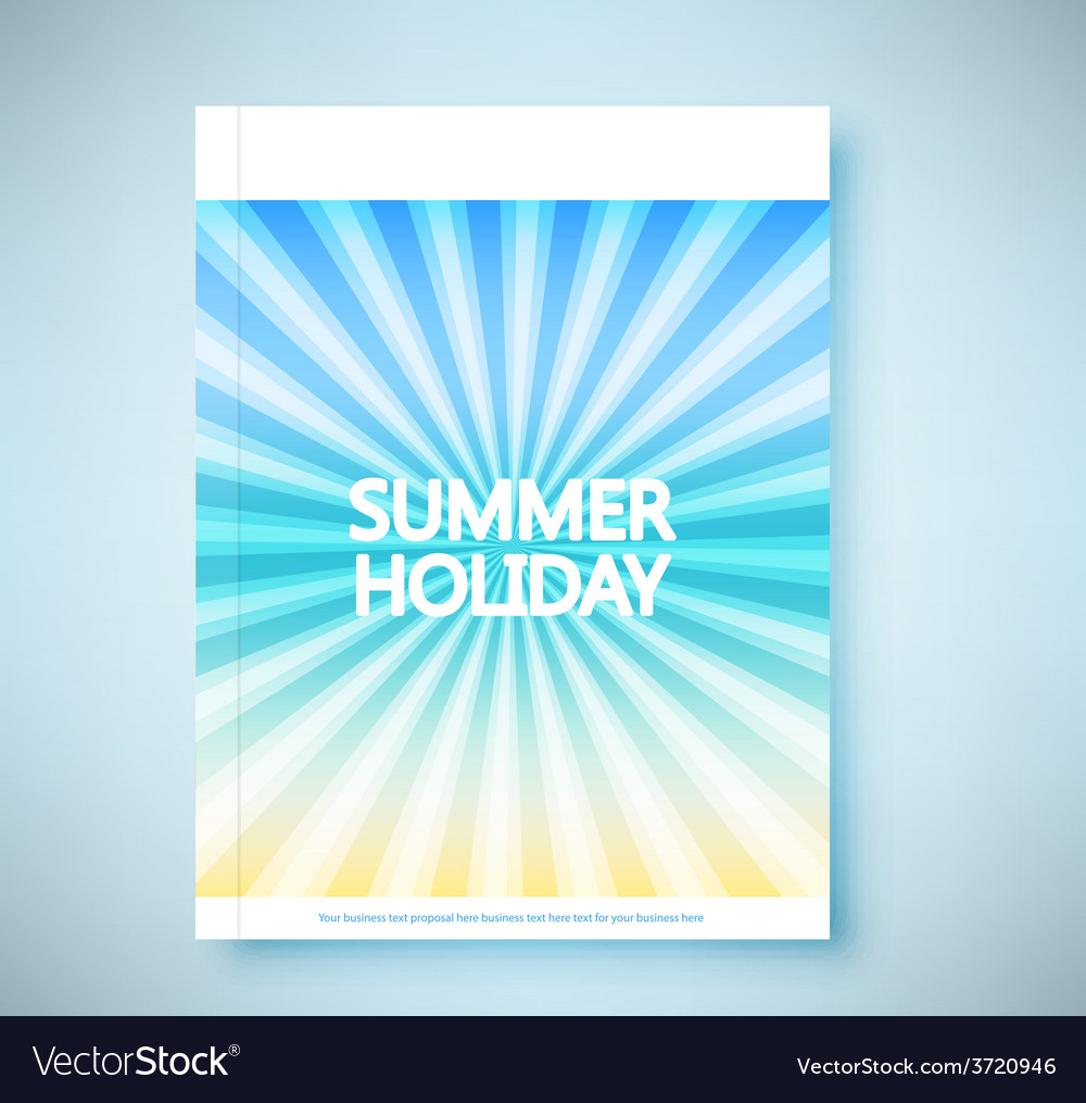 Summer rays holiday vintage on light sea report vector | Price: 1 Credit (USD $1)