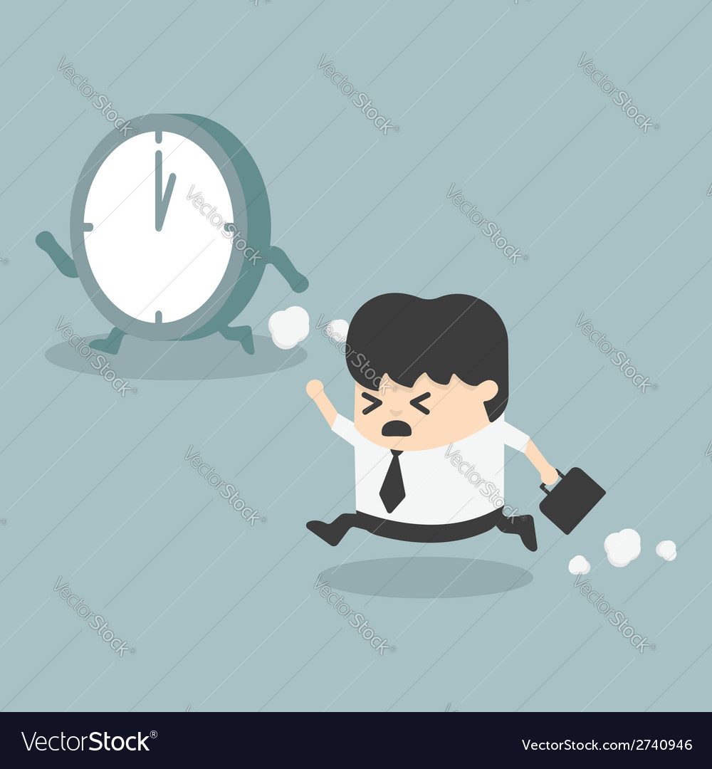 The time management businessman running vector | Price: 1 Credit (USD $1)