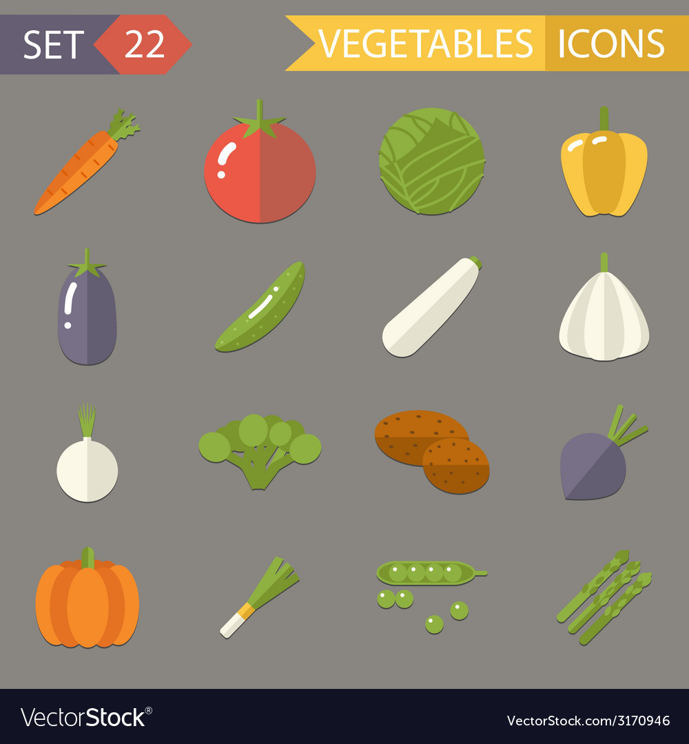 Vegetables symbols healthy and healthsome food vector | Price: 1 Credit (USD $1)
