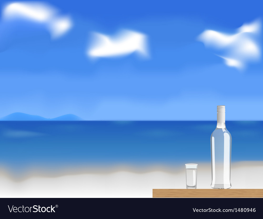 Vodka on the beach vector | Price: 3 Credit (USD $3)