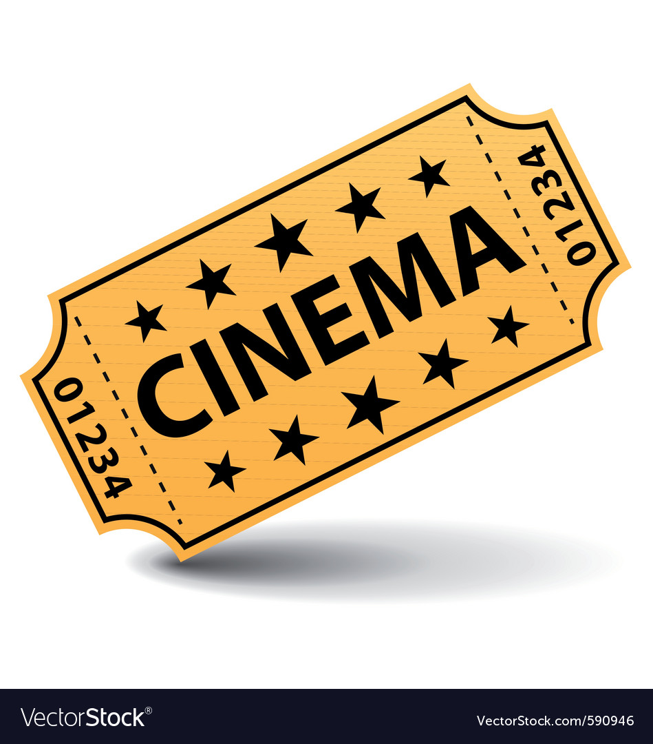 Yellow cinema ticket vector | Price: 1 Credit (USD $1)