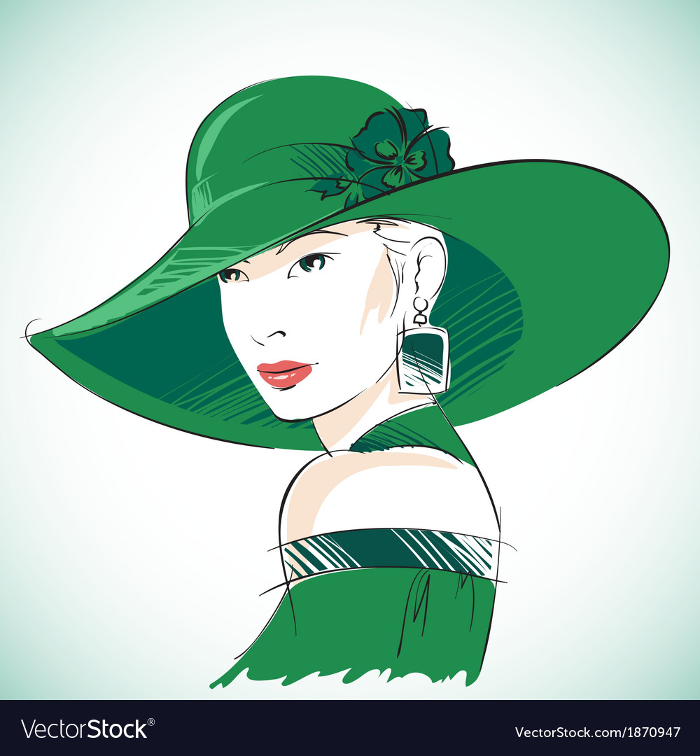 Attractive sensual woman portrait vector | Price: 1 Credit (USD $1)