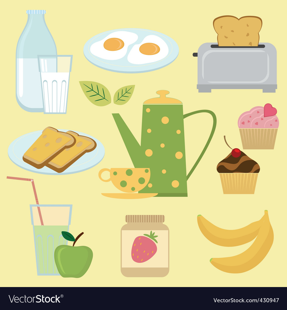 Breakfast set vector | Price: 1 Credit (USD $1)